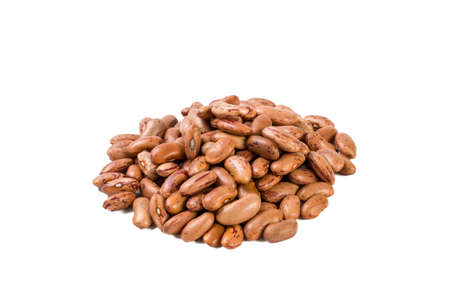 Pinto bean heap isolated on white background. nutrition. bio. natural food ingredient.