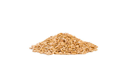 Oats heap isolated on white background. nutrition. bio. natural food ingredient.