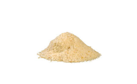 breadcrumbs heap isolated on white background. nutrition. natural food ingredient. front view.