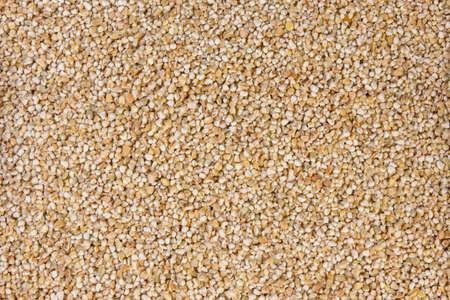 fine ground barley texture background.