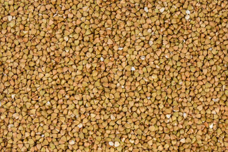 raw buckwheat texture background.