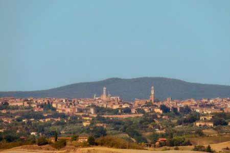Panorama of city of Siena. Tuscany region in Italy.  版權商用圖片
