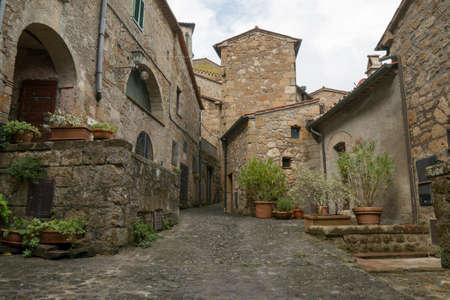 Pitigliano medieval town in Tuscany, Italy Banco de Imagens