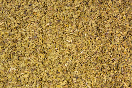Dried leaves of yerba mate tea background. Nutrition. Traditional tea in South-America. Фото со стока