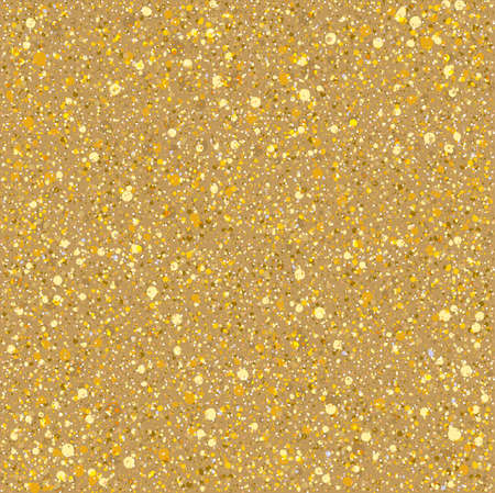 Sand gold sparkles texture. Vector seamless pattern.