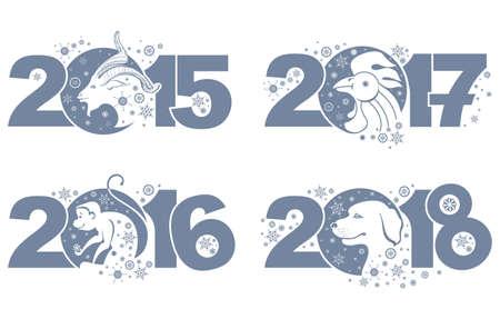 Goat 2015 Monkey 2016 Rooster 2017 Dog 2018 Symbols Of The