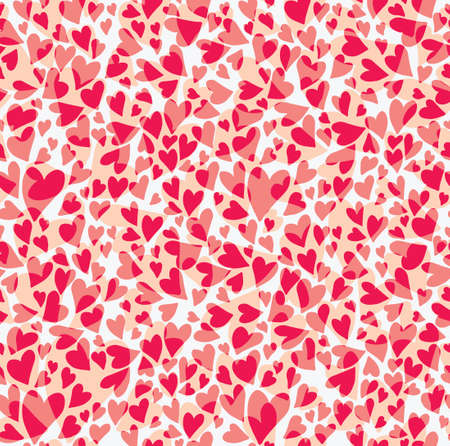 kitsch: Seamless pattern carnation hearts. Seamless pattern a large number of red hearts like the petals of carnation.