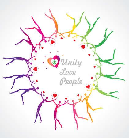 rainbow circle: Rainbow Circle. Unity. Love. People.