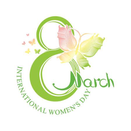 International Womens Day design. March 8.