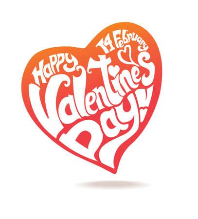 happy: Heart. Happy Valentines day! Illustration