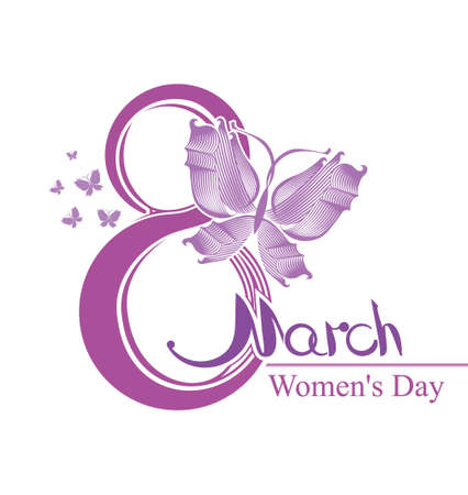 Womens Day design. March 8.