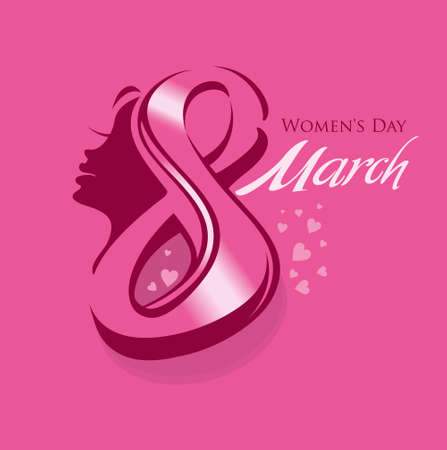 flit: March 8 - Womens Day. Bright vector card design.