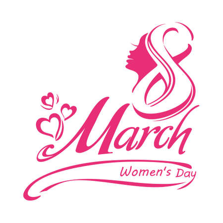 March 8 - template Womens Day design. Illustration