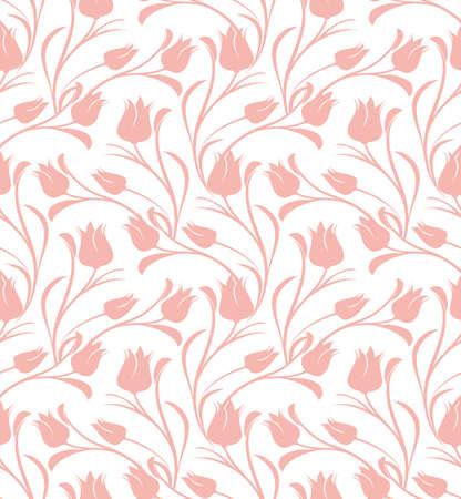 튤립 꽃 원활한 패턴입니다.