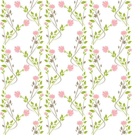 Seamless pattern with flower garlands. Vector template can be used for a romantic, wedding and other design.