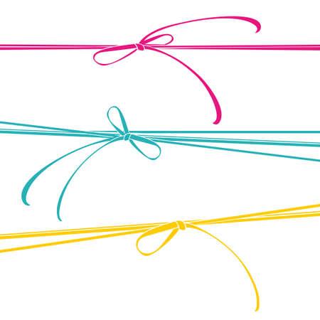 Rubans colorés vecteur de cravates modèle Banque d'images - 80788379