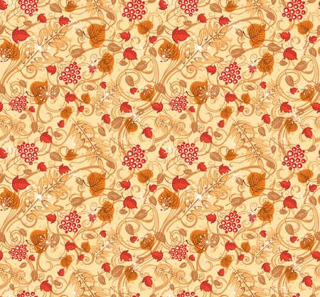 Beautiful autumn seamless pattern.