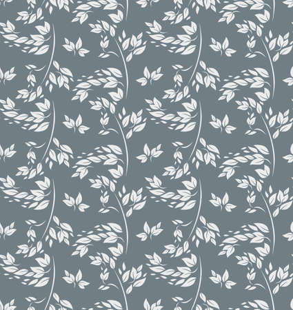 Light silvery foliage seamless pattern.