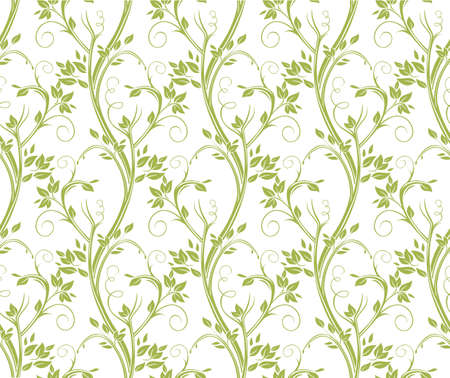 Seamless curly floral pattern. Stems and leaves of ornamental grasses. Ilustrace