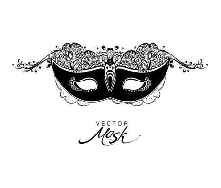 Beautiful mask of lace. Mask for a masquerade. Vector party mask.