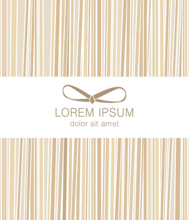 Abstract graphic template beige stripes. Packaging for pasta. Can be used in food design. It looks like pasta, macaroni. Or for another associative design.