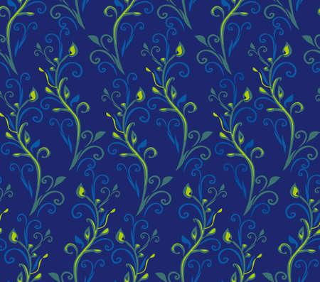 Seamless Wild Grass pattern