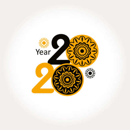 Year 2020. Decorative symbol 2020.