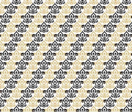 Decorative seamless diagonal stripes fleur de lis pattern. Fleur de lis seamless pattern. Beautiful fleur de lis flat vector decor.