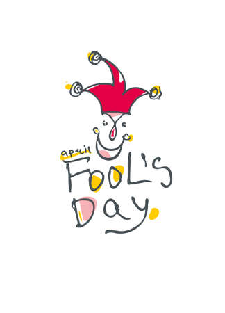 Fools Day. Handwritten simple icon for fools day.