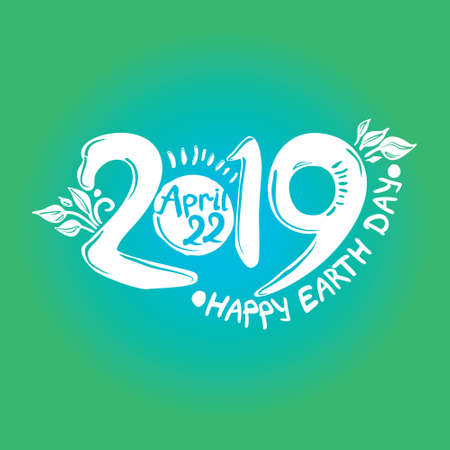 Happy Earth Day 2019. April 22.
