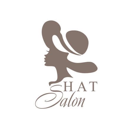 The girl in the hat. Fashionable Hat Salon. Ilustrace