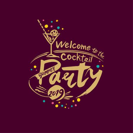 Welcome to the Cocktail Party. Summer 2019. Ilustração