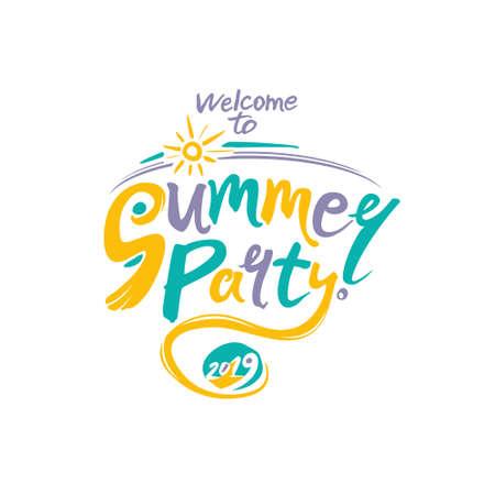 Welcome to Summer Party. 2019. Ilustração