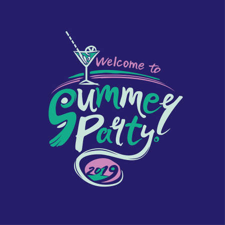 Welcome to Summer Party. 2019. Imagens - 124956667