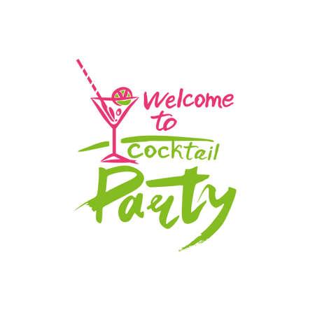 Welcome to Cocktail Party. Ilustração