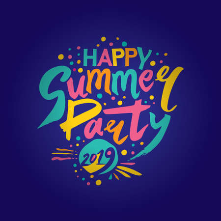 Happy Summer Party 2019. Imagens - 124956673