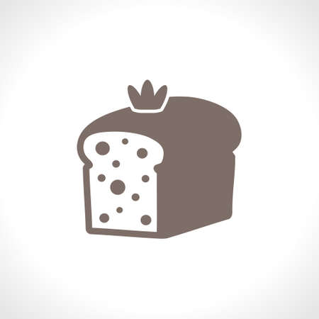 Cake loaf. Flat vector icon. Food design pastry cooking. A simple image of a fresh sweet loaf.