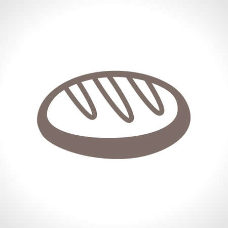 Cake loaf. Flat vector icon. Food design pastry cooking. A simple image of a fresh loaf.