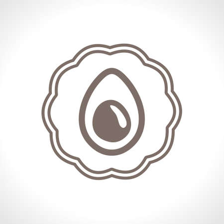 Egg icon for baking on egg yolks. Flat vector icon. Food design.