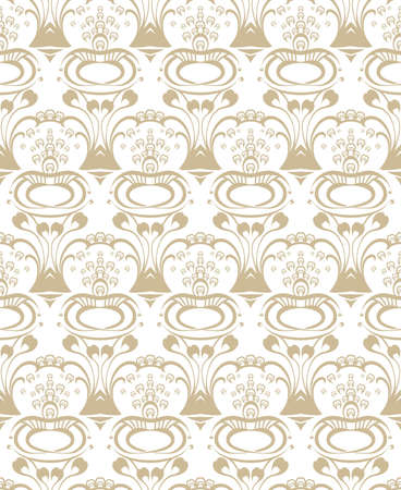 Art Nouveau seamless pattern. Art Nouveau elegance vector seamless pattern. 스톡 콘텐츠 - 141606700