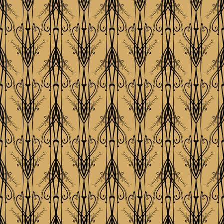 Seamless Art Nouveau pattern. Openwork shod seamless lattice in Art Nouveau style. Illustration