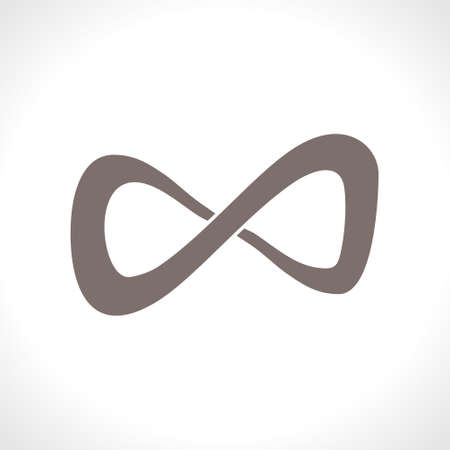 Symbol of infinity flat vector template.