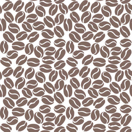 Light Roast Coffee seamless pattern. Coffee beans isolated on white. Flat vector template for coffee shop.