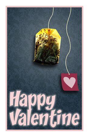 teabag: happy valentine card with teabag