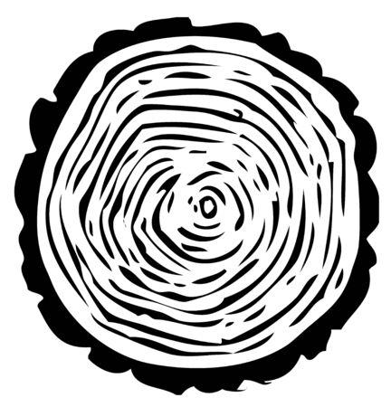 tree-ring illustration on white background
