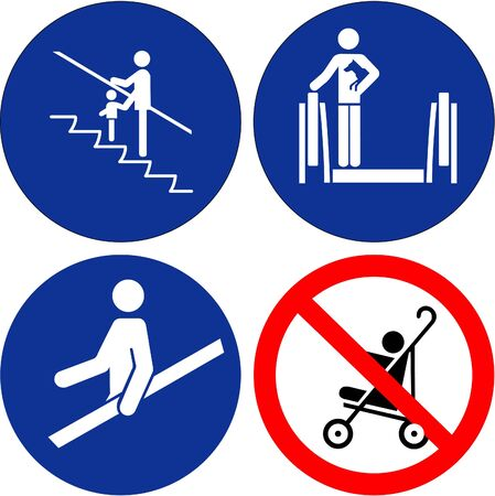 safety symbols: Set of safety symbols on white background