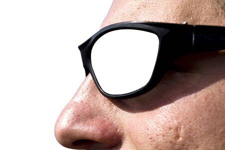 man sunglasses isolated on white background Stock Photo - 5580904