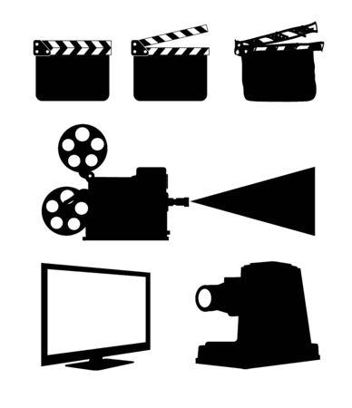 Cinema Icon Set on white  photo