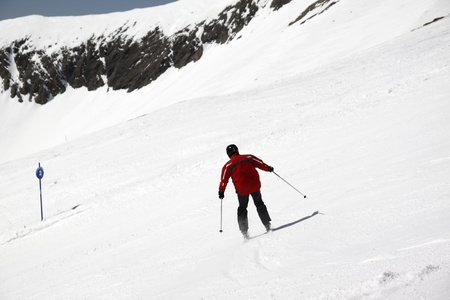Skier in high mountains drift Stock Photo - 13456553