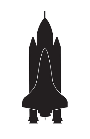 booster: llustration of a space shuttle on white